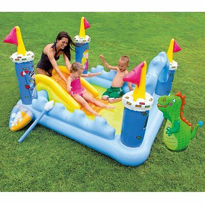 Water Park Inflatable Slide Bounce Swimming Pool Fantasy Castle Play Center Kids
