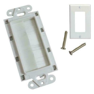 White Plastic Single Gang Decora Style Home Office Wall Face Plate 1-Gang (1/pk)