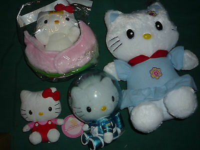 Lot of 4 Hello Kitty Plush (some with Tags!)