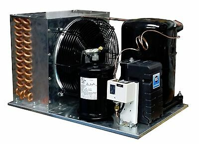 Outdoor KM2464ZK-2 Condensing Unit 1-1/2 HP Low Temp R404A, 220V Assemble in USA