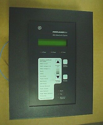 GE Power Leader Meter Cat No TM1G04 with Waveform Capture - 60 day wnty