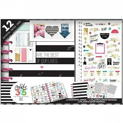 Me and My Big Ideas Best Days Happy Planner 12 Month Box Kit for Scrapbooking. S