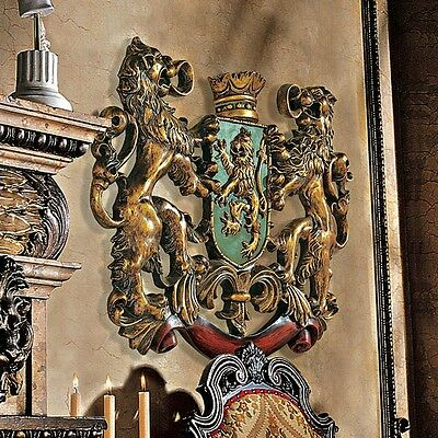 Heraldic Royal Lions Coat of Arms Wall Sculpture. Brand New