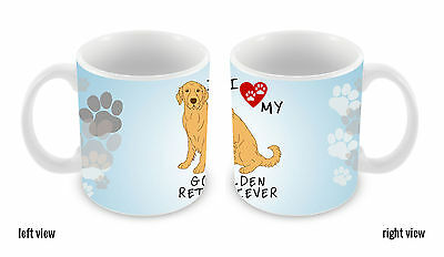 I Love My Golden Retriever Dog Lover 11oz Ceramic Coffee Mug