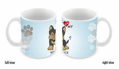 I Love My Yorkie Dog Lover 11oz Ceramic Coffee Mug