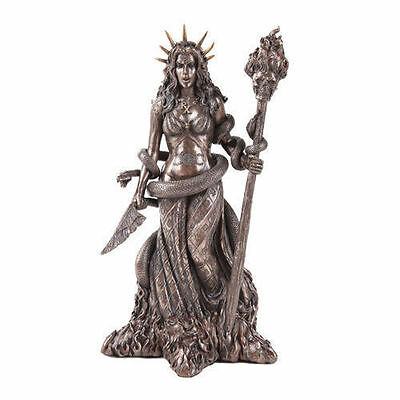 """Ancient Greek Godess Daughter Of Perses """"hekate"""" W/ Torch Cold Cast Bronze • CAD $76.09"""