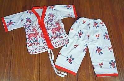 Bohemian baby Ethnic ROBE SET thai Festival  Hippie Toddler Patterned