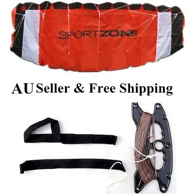 Free Shipping 1.8M 2 Line Stunt Parafoil Power Sport Kite w flying tools as GIFT