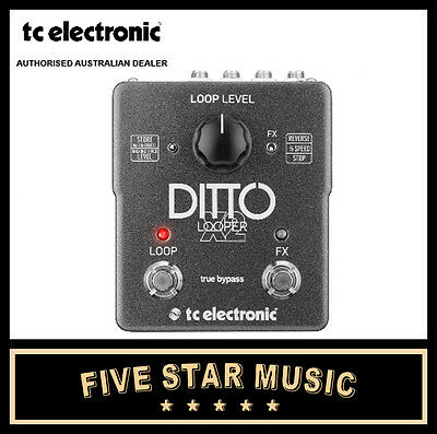 Tc Electronic Ditto X2 Stereo Looper Guitar Effect Pedal New Loop