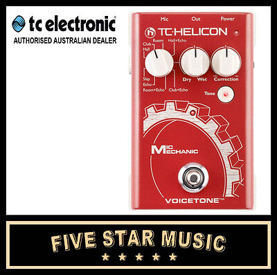 Tc Electronic Mic Mechanic Vocal Pitch Correction, Reverb, Delay Fx Pedal New