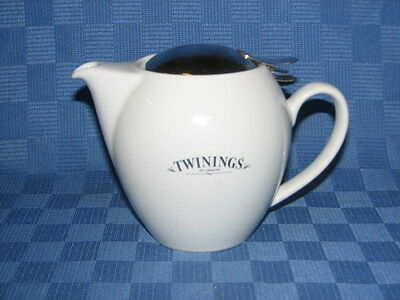 Tea Pot, Twinings, White, 2 cup Capacity.