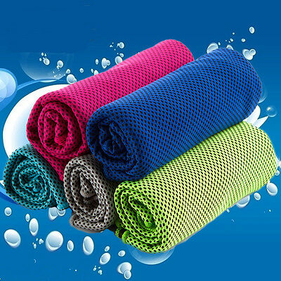Ice Cold Enduring #T Running Jogging Gym Chilly Pad Instant Cooling Towel Sports