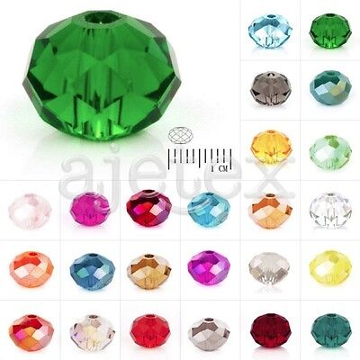 72/100/150pcs Crystal Beads Czech Rondelle Fit Necklace Jewelry 4/6/8/10/12mm