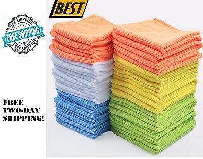 Microfiber Cleaning Cloth Towel Car Polishing Rag Detailing No-Scratch Set Of 50