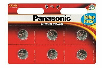 6 x Panasonic CR2016 DL2016 3V Lithium Coin Cell Batteries BEST VALUE 6 PACK