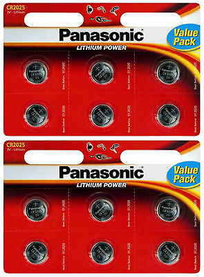 12 x Panasonic CR2025 DL2025 3V Lithium Coin Cell Batteries BEST VALUE 12 PACK