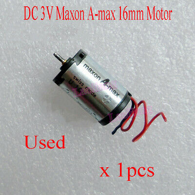 1pcs Used DC 3V Maxon A-max 16mm Low voltage High Speed DC Coreless Gear Motor