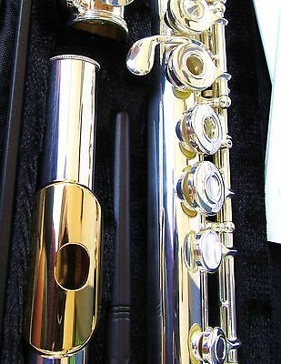 NEW Gemeinhardt 3OSHB Silver Flute w/ GOLD LIP Open-Hole, B-foot, Offset G 30SHB