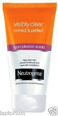 Neutrogena Visibly Clear Correct & Perfect Complexion Daily Scrub 150ml New