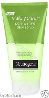 Neutrogena Skin Care Visibly Clear Pore and Shine Daily Scrub 150 ml New
