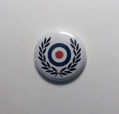 "Wreath Target 1"" Button Pin Badge Scooter Ska Rocksteady Skinhead"