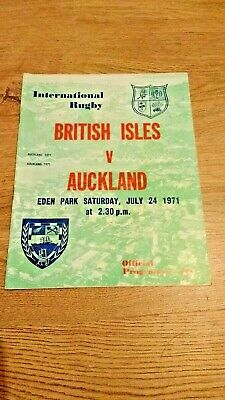 Auckland v British Lions 1971 Rugby Programme