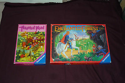 Ravensburger Board Game Lot Enchanted Forest & Haunted Wood BOTH COMPLETE