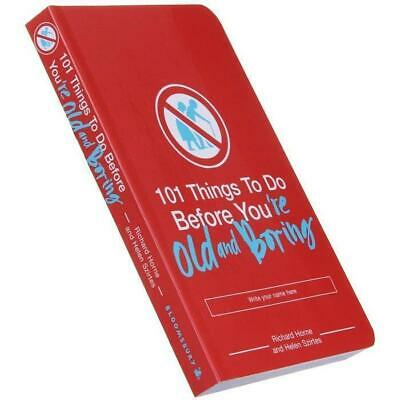 101 Things To Do Before You're Old and Boring - Paperback Book Aging Hobbies Han