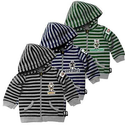 New Boys Girls Baby Official NRL Support Hoodie, Hooded Jacket Coat Size 0,1,2,4