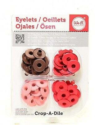 We R Memory Keepers Wide Eyelets (Red) 3 pcs sku# 1849213MA. Delivery is Free