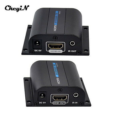 1080P HD HDMI Extender Adapter to RJ45 Cat6 with IR Remote Sender and Receiver