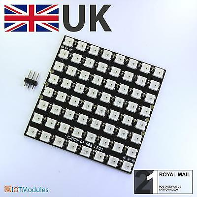 RGB LED Colour Matrix 8x8 WS2812 for Arduino or RPI