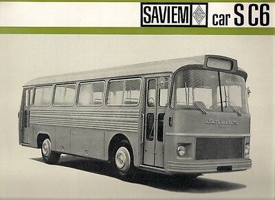 Saviem S C6 Coach Mid-Late 1960s French Market Foldout Sales Brochure