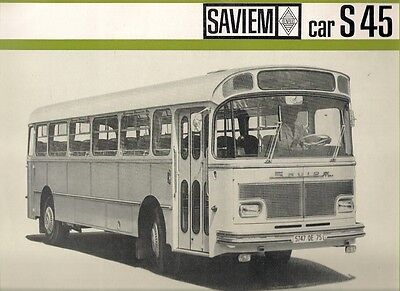 Saviem S 45 Coach Mid-Late 1960s French Market Brochure Standard Ligne Suburbain