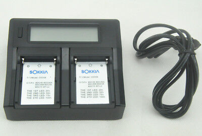 NEW Dual Charger w/LCD for SOKKIA BDC46 BDC46A BDC46B BDC58 BDC70 BT-L2 battery