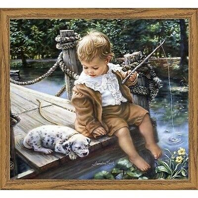 Heaven and Earth Designs Gone Fishing Counted Cross-Stitch Chart. Brand New