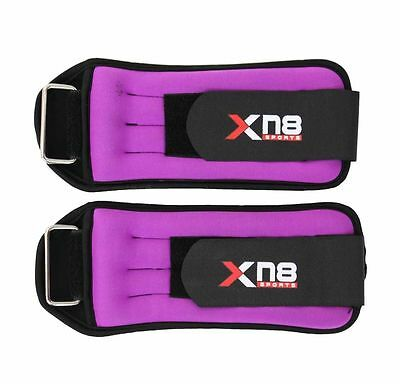 Pink Ankle Weights Velcro Adjustable Leg Wrist Strap Running Training Exercise