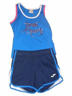 Joma Kinder Set Tank Top Short Gr. 110 128 152 164 blau Shirt Jersey UVP 24,95 €