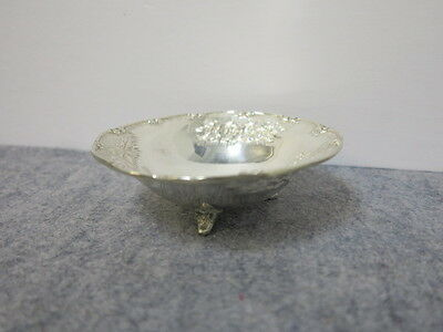 925 Sterling Silver Repousse Footed Bowl Greek Arts & Crafts ~ XEIPOE