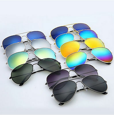 Sunglasses Aviator Women Men Retro Fashion Mirror Lens Glasses Eyewear Vintage