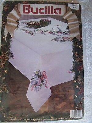 Doves and Holly Embroidery Tablecloth Kit (150cm x 260cm ). Shipping Included