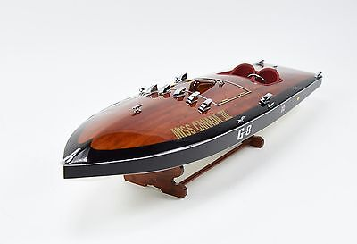"MISS CANADA III G-8 Racing Boat 34"" Handcrafted Wooden Classic Boat Model"