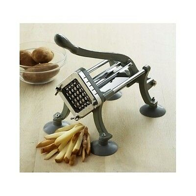 French Fry Cutter Potato Slicer Commercial Grade Stainless Steel Kitchen Utensil