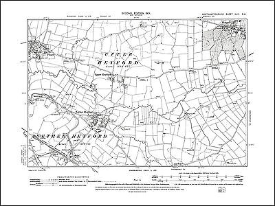 Nether Heyford, Floore east, Harpole, old map Northants 1901: 44SW repro