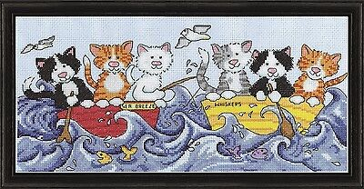 Design Works At Sea Cats Counted Cross Stitch Kit. Shipping Included