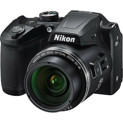 "Nikon COOLPIX B500 16MP Digital Camera 40x Optical Zoom 3"" LCD WiFi & Bluetooth"