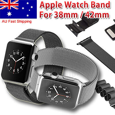 Milanese Magnetic Loop Steel Stainless Watch Bands For Apple Watch iWatch Strap