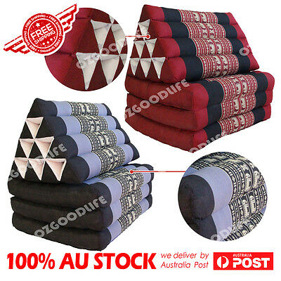 L Thai Triangle Pillow Fold Mattress Cushion out Bed 3fold red blue best gift