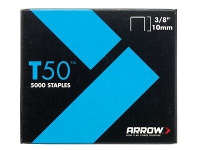 Arrow ARRT5038 T50 Staples 10mm (3/8in) Pack 5000 (4 x 1250)