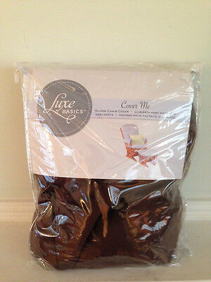 Luxe Basics Cover Me Glider Chair Cover, Chocolate